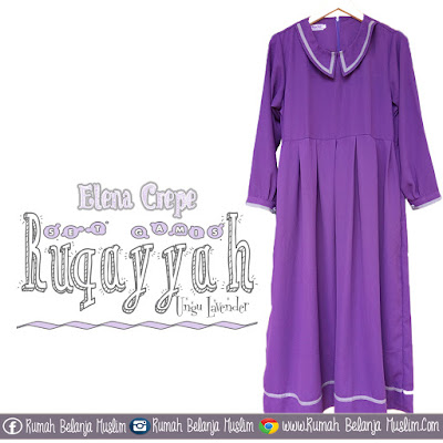 Gamis Syari Ruqoyyah Ungu Lavender