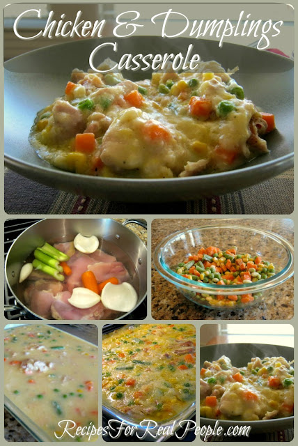You'll love this chicken and dumplings recipe. Comfort food in a casserole!