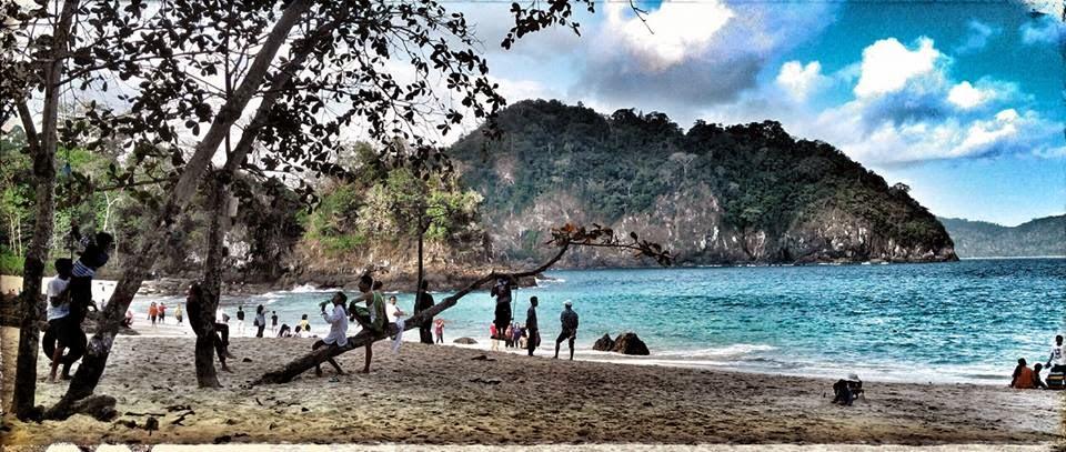 Pantai Teluk Hijau, Green Bay, Banyuwangi.