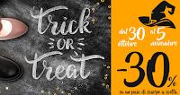 Logo Pittarello ''Trick or Treat?'': buono sconto del -30% su un paio di scarpe a tua scelta