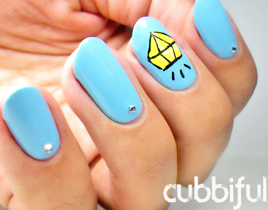 Cute cartoon diamond nails