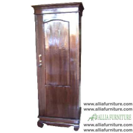 lemari pakaian klender kayu jati 1 pintu