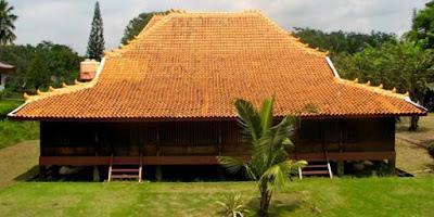 Sketsa Rumah Adat Sumatera Selatan