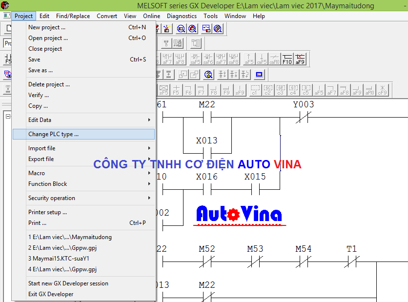 Hướng dẫn chuyển đổi Code chương trình PLC Mitsubishi qua các dòng khác nhau