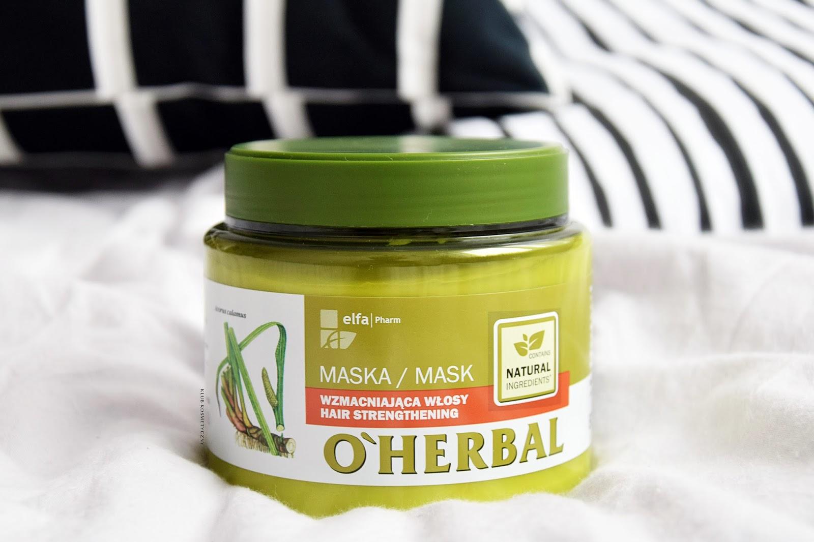 O'Herbal, wzmacniająca maska do włosów z tatarakiem