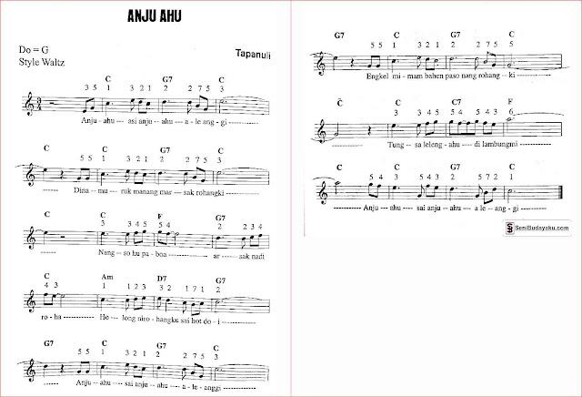 Gambar-not-angka-lagu-anju-ahu-sumatera-utara