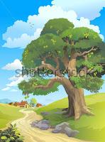 En un manicomio en el que una banda de puros locos se suben a una mata de mango que está en el patio trasero, y el psiquiatra de guardia no hallaba qué hacer para bajarlos de ese árbol sin que se lastimaran.