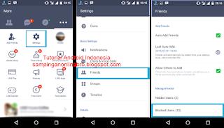 Cara Mudah Hapus Kontak Teman Line masuk setting, friend, block users