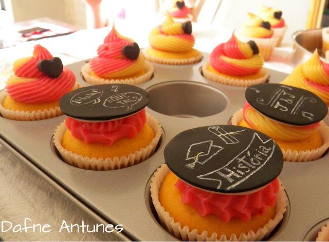cupcake de quadro negro Jesse e Joy - chalkboard cupcake