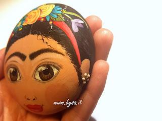 Frida Kahlo accessori dipinti a mano sasso dipinto fermacarte