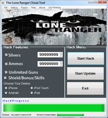 Download Free The Lone Ranger (All Versions) Hack Unlimited Silvers,Ammos,Guns,Shields, Bonus, Skills 100% working and Tested for IOS and Android MOD.