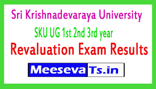 Sri Krishnadevaraya University SKU UG 1st 2nd 3rd year Revaluation Exam Results