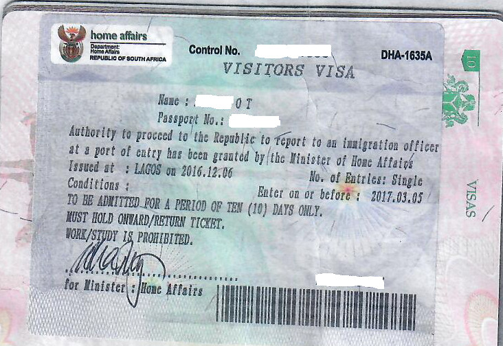 How To Successfully Apply For South Africa Visitor Visa From Nigeria