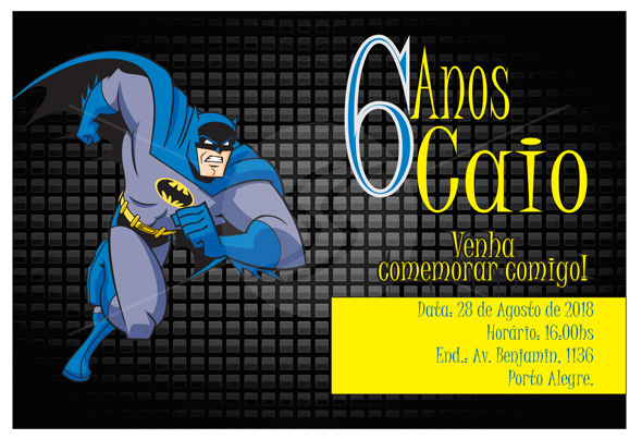 Convite Morcego Batman