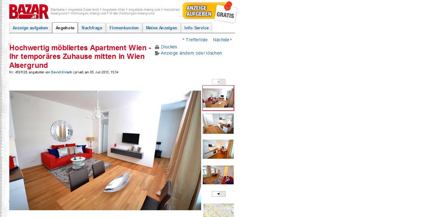 Wohnungsbetrugblogspotcom Hochwertig Möbliertes Apartment Wien