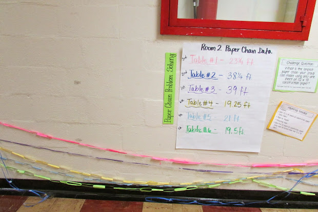 Growing Stem Classroom Paper Chain Math Challenge