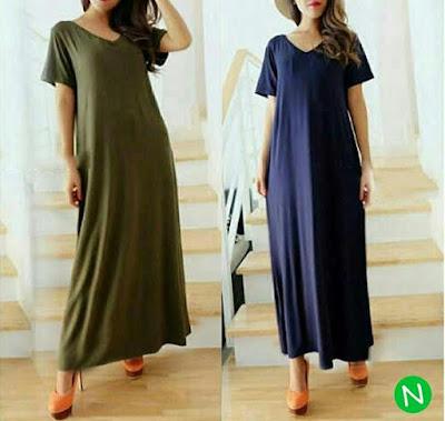 Jual Baju Big Size Maxi Dress Carlina - 12444