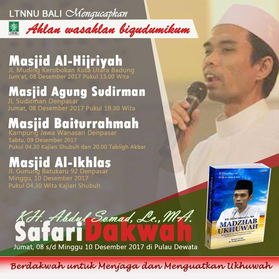 Safari Dakwah Ustadz Abdul Somad di Bali
