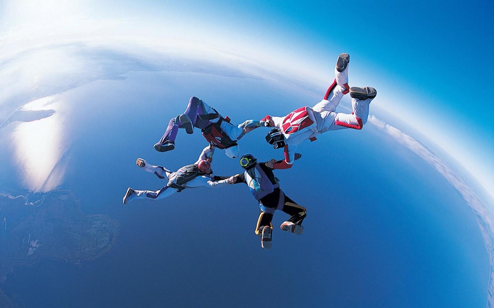 Free Summer Desktop Wallpaper Sports: HD-Hintergrundbilder: Extremsportarten, Fallschirmspringen