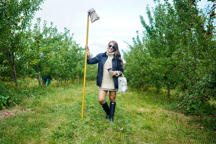 Krista Robertson, Covering the Bases, Travel Blog, NYC Blog, New York & Company, Preppy Blog, Fashion Blog, Travel, Fashion Blogger, NYC, Wilkens Farm, Apple Picking in NY, Upstate New York, Fall Outfits, Fall Style, Hunter Boots, Barbour Jacket, Preppy Outfit