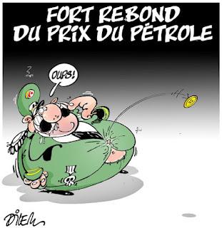 Caricature Dilem : rebond du prix du pétrole et sa conséquence en Algérie