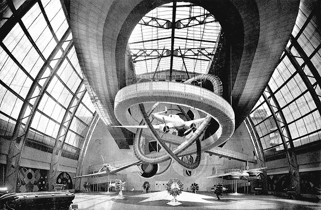 a photograph of the Palais de l'Air at the 1937 Paris Expo Internationale