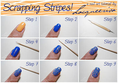 Lacqueerisa Scrape Nail Art Tutorial Toothpicks Small Dotting Tool