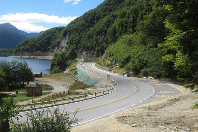 View of the Carretera Austral, South of Chile.