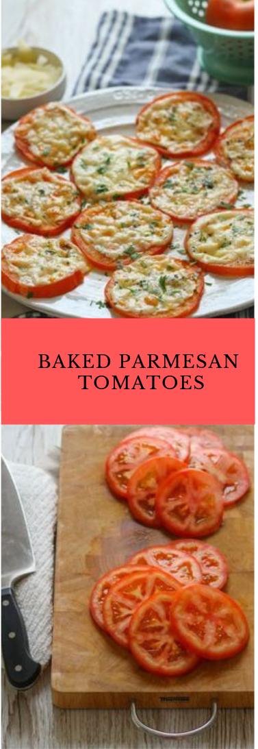 Heated PARMESAN TOMATOES #mozzarella
