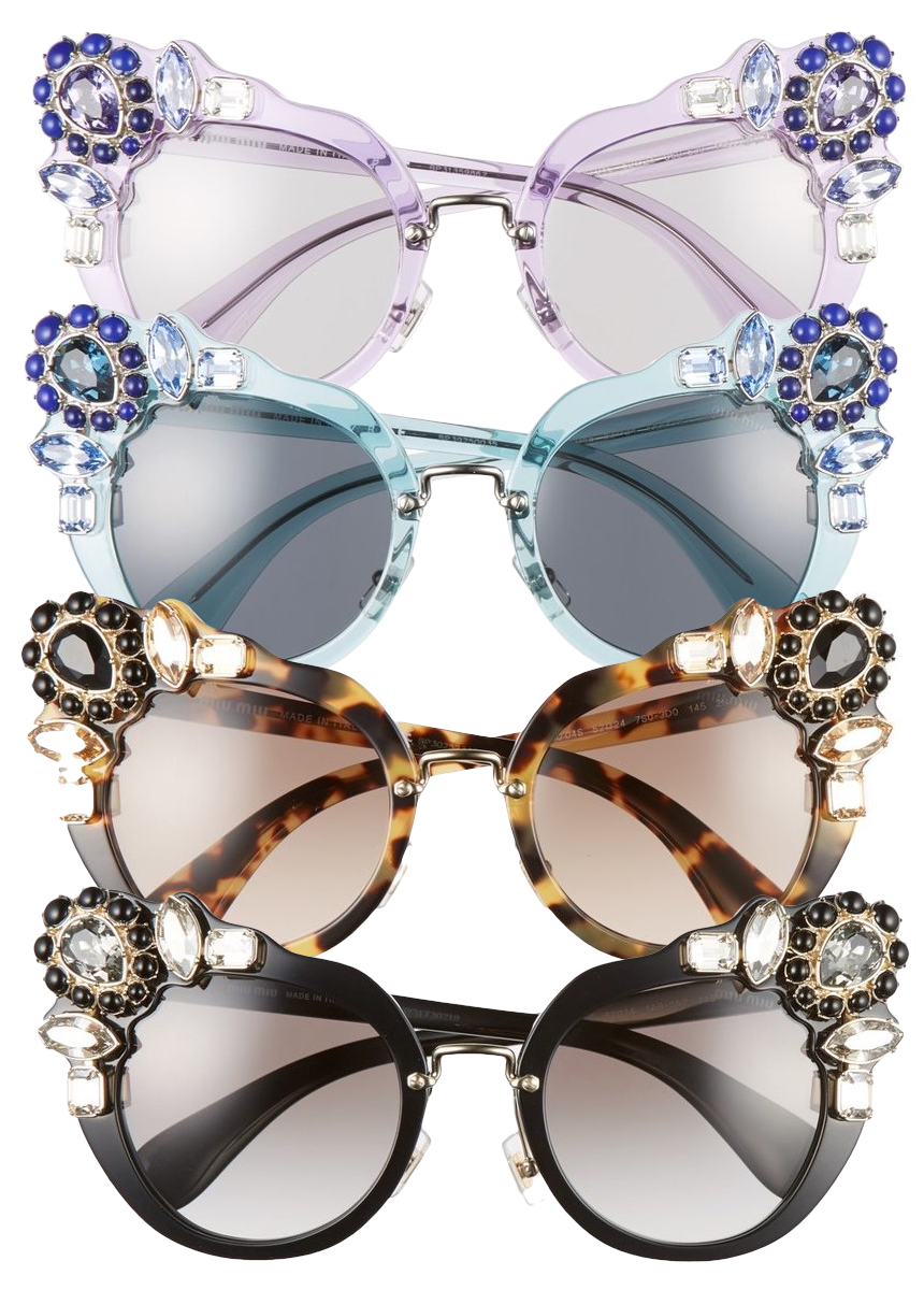 Miu Miu 52mm Cat Eye Sunglasses