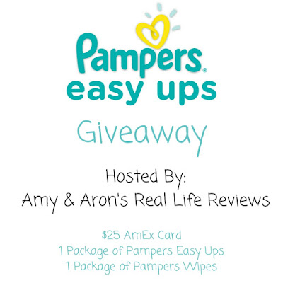 Enter the Pampers EasyUps & AmEx Giveaway. Ends 5/8