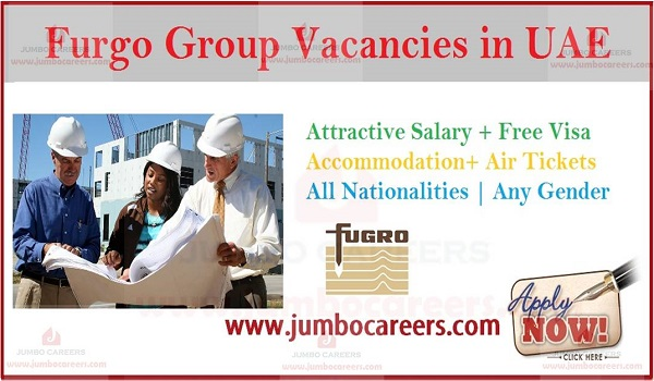 Jobs at Engineering and Managers at Furgo Dubai, latest job openings in Furgo group Dubai,