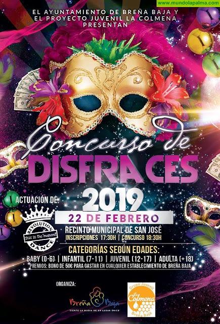 """""""Concurso de Disfraces"""" de carnaval en Breña Baja"""