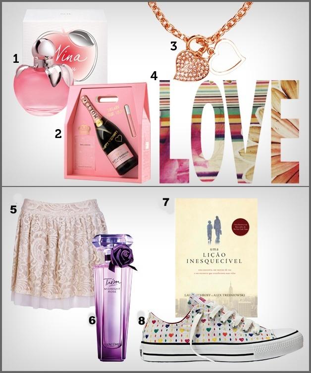 Perfume Nina L Eau 50ml Nina Ricci,R  199 2.Moët Rosé Impérial Moët    Chandon,R  650 3.Pulseira Morana,R  39 4.Adesivo Fabric Love em camurça JRJ  Tecidos,R  ... 119a7e7c91