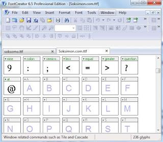 cara mengedit font dengan font creator