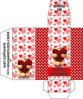Teddy Bear in Love Hangover box.