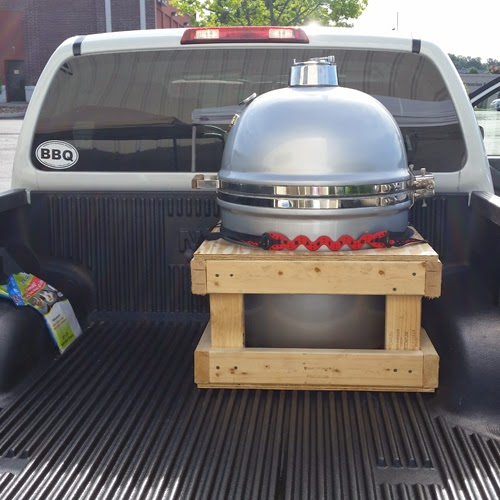 how to transport big green egg, how to move Grill Dome