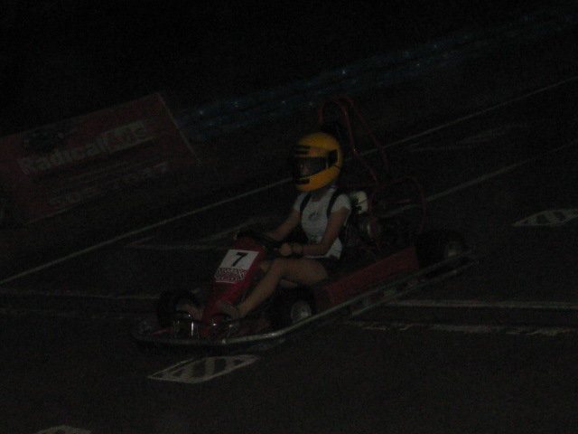 Jen on the Kartzone Cebu racetrack
