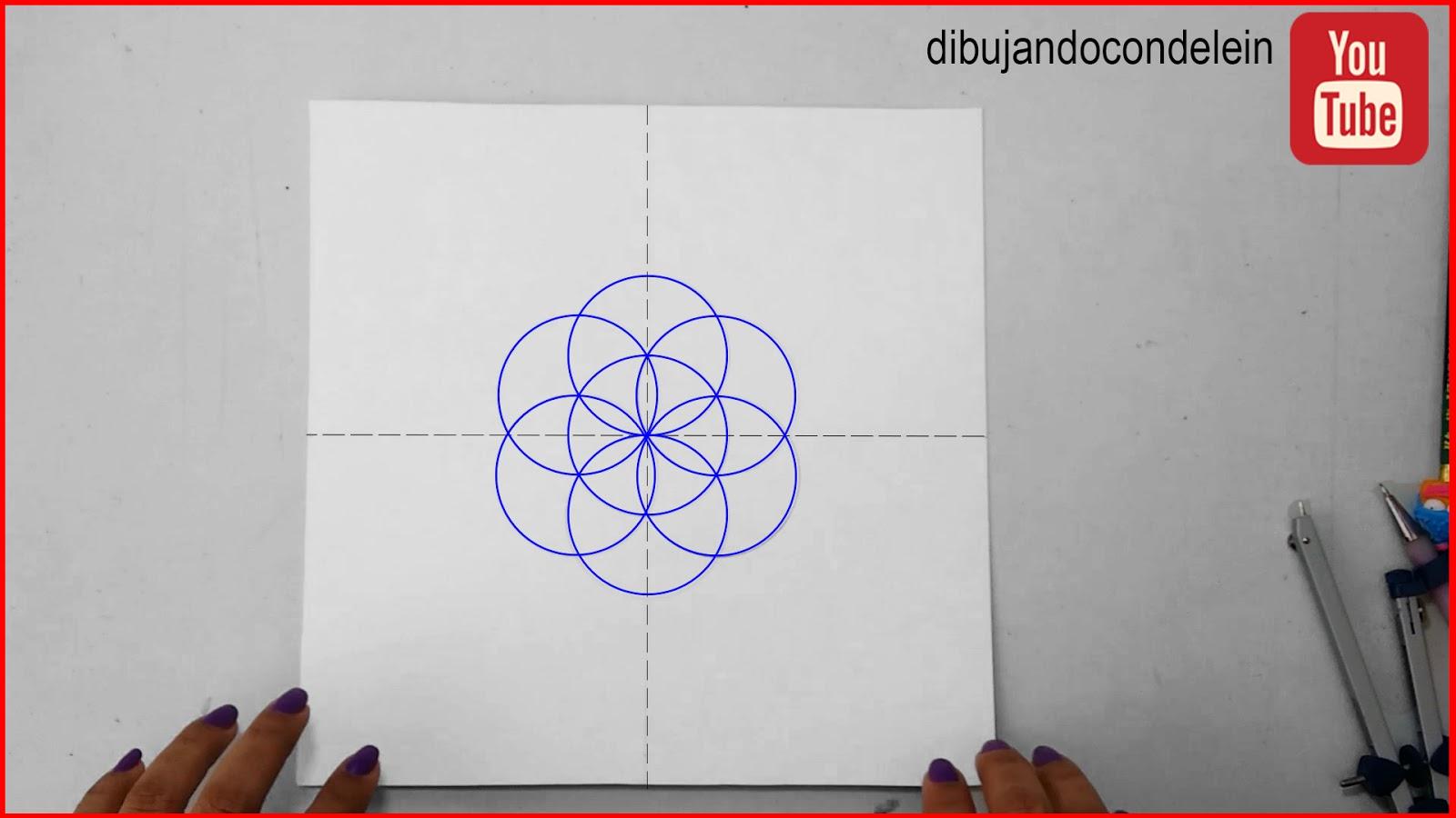 """Dibujando Con Delein Como Hacer Una Libreta De Dibujo: Dibujando Con Delein: Cómo Dibujar Un Mandala #5, """"Flor"""