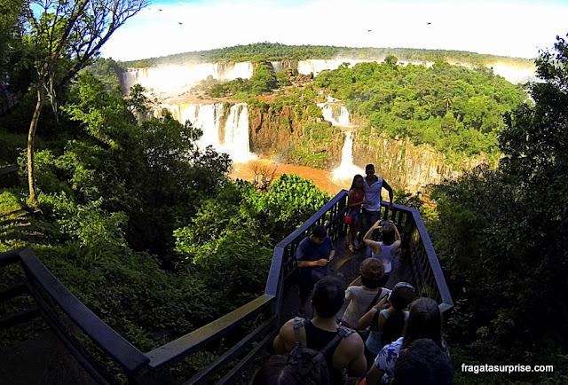 Mirante na trilha das Cataratas do Iguaçu