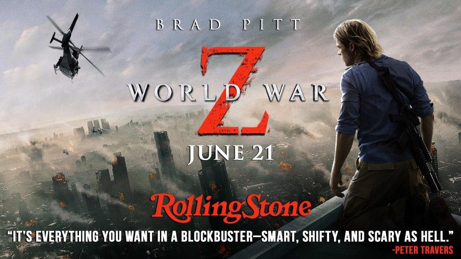 Horror Books & Movies: New World War Z trailer: Rolling