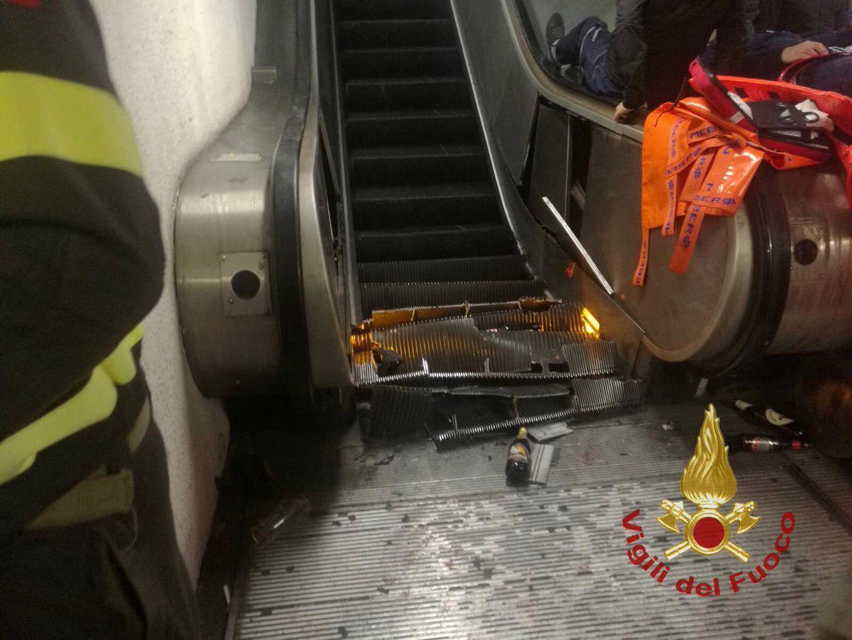 Болельщикам из РФ в метро Рима изуродовало ноги