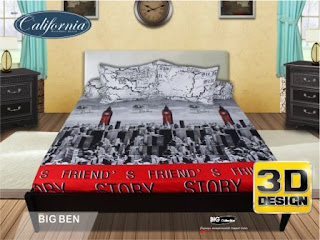 Sprei california 3D Big ben