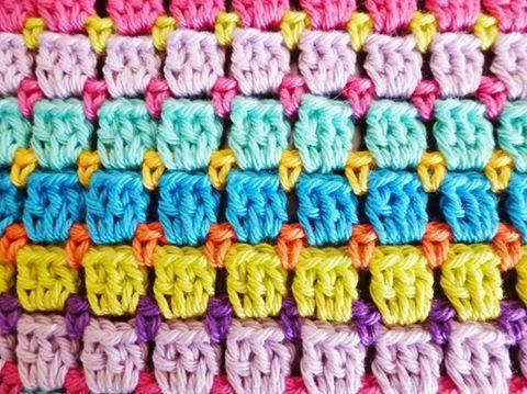 Patrón #1160: Punto Tupido a Crochet