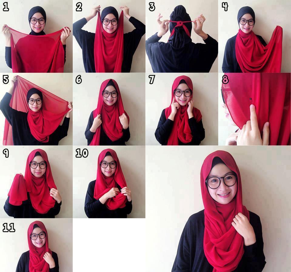 Tutorial Hijab Segi Empat Simpel Cantik Serba Wanita Kekinian