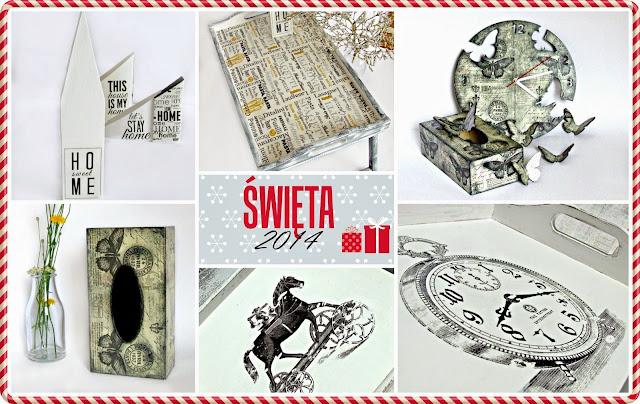 prezenty hand made dla bliskich na Święta - decoupage by Eco Manufaktura