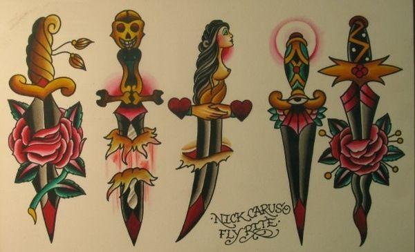 Tatuajes De Dagas Tradicionales Y Diseños Para Descargar Belagoria