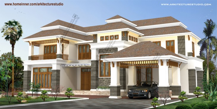 5000 sqft traditional kerala home design ideas by arkitecture studio
