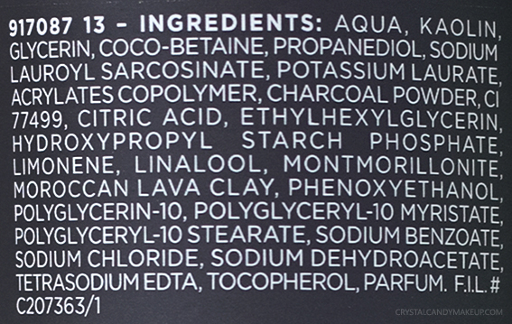 L'Oreal Paris Pure-Clay Energizing Brightening Cleanser Ingredients