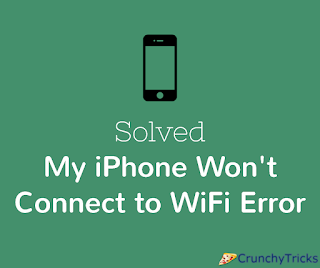 My iPhone Won't Connect to WiFi